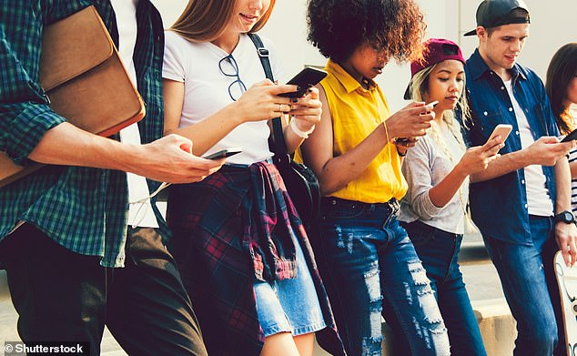 Those born after 1996 (known as Gen Z) are growing up in a world that has always been associated with technology. They are said to be the most connected, educated and open minded generation (stock image)
