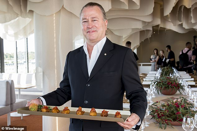 Gourmet at home: Aside from flipping burgers, Neil has been keeping on top of things by offering online cooking classes and high-end home delivery boxes