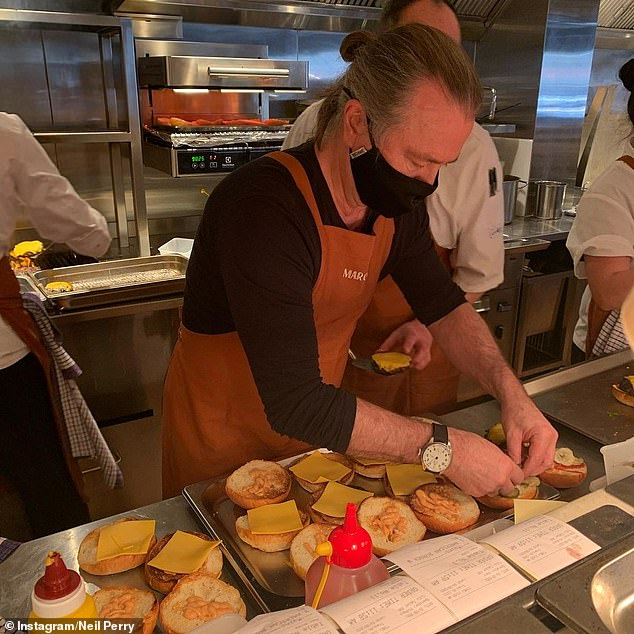 'I've had some pretty dark moments': Celebrity chef Neil Perry reveals he's flipping 200 burgers a day and has been forced to mortgage his house to keep his restaurant empire afloat amid Sydney's ongoing Covid lockdown