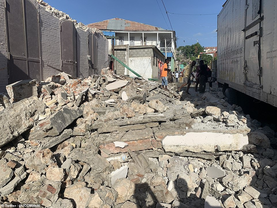 The 7.2-magnitude earthquake struck five miles from the town of Petit Trou de Nippes, about 7.5 miles west of Haiti's capital Port-au-Prince