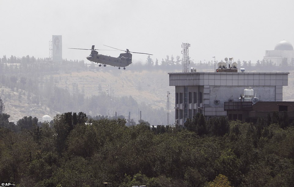 Biden is now eating his words after Americans were evacuated from the U.S. Embassy in Kabul by helicopter just five weeks after his remarks. A twin-rotor U.S. Air Force Chinook was seen taking off from the US Embassy Sunday as the evacuation efforts rapidly pick up