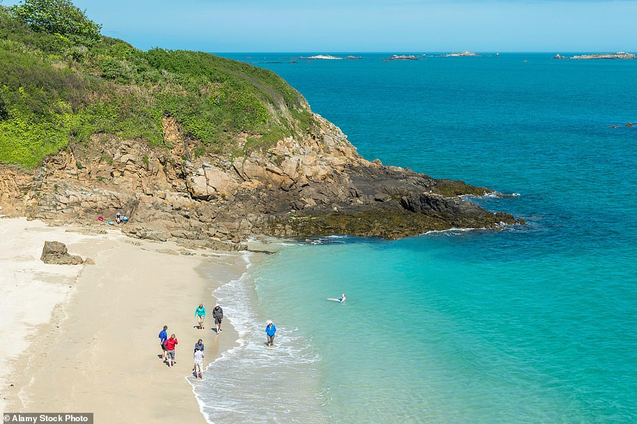 Safe haven: Belvoir Bay, on the island of Herm,looks akin to somewhere in the Caribbean