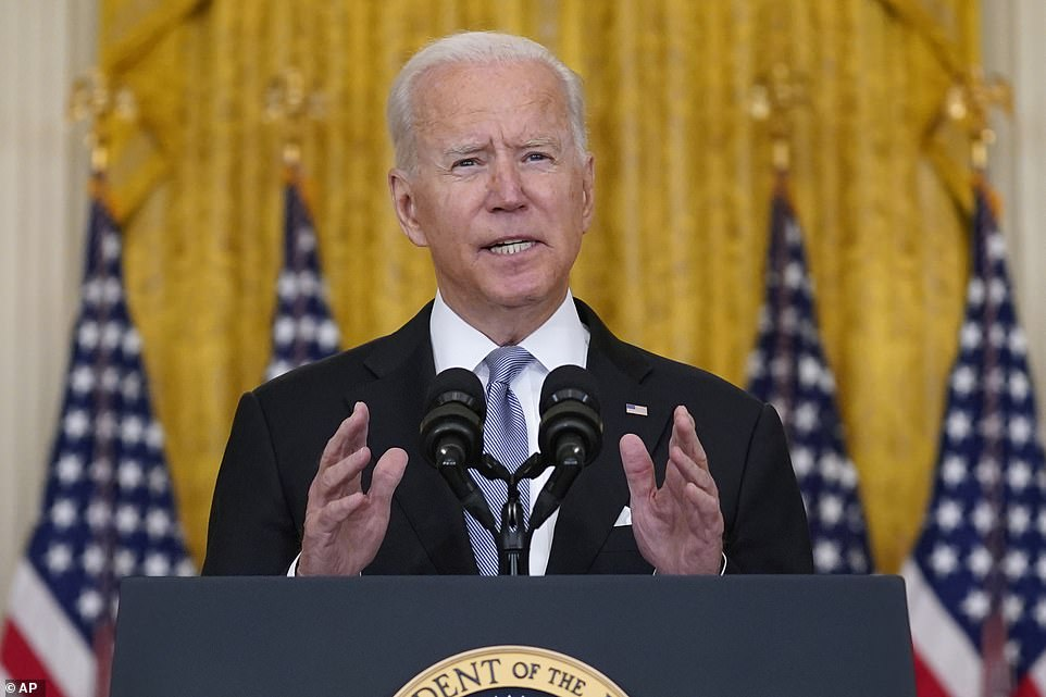 President Joe Biden speaks about Afghanistan from the East Room of the White House,August 16, 2021