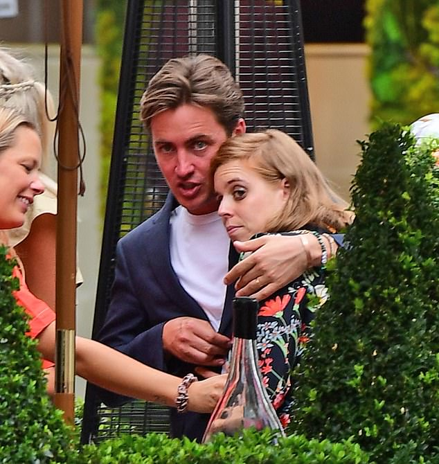 Royal mother-to-be Princess Beatrice (pictured with husbandEdo Mapelli Mozzi last week) has spoken movingly about her experience of dyslexia
