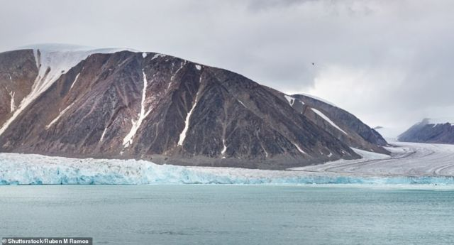 FITZROY GLACIER, DEVON ISLAND, NUNAVUT, CANADA: At 55,247 sq km (21,331 sq miles), Devon Island is the world¿s largest uninhabited island, the author notes. 'The Fitzroy glacier is one of several belonging to the Devon ice cap, which covers 14,000 sq km (5,400 sq miles),' she says. 'The island¿s almost barren Haughton Crater is considered a similar landscape to that of Mars, leading to the establishment of a Nasa research base'