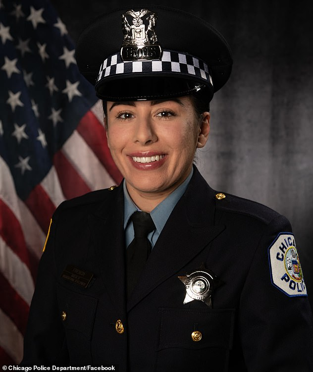 Chicago Police Officer Ella French, pictured, was shot dead on Saturday in the line of duty