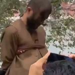 Life under the 'moderate' Taliban: Fighters tar a 'car thief' and tie him to the back of truck 💥👩💥