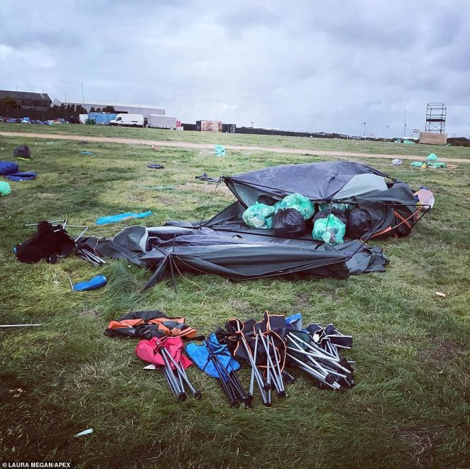 About 50,000 people attended the popular site over the weekend but many left huge amounts of rubbish and belongings after the music was over