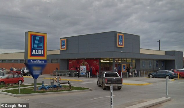 Dubbo Aldi (pictured) was issued a public health alert after being flagged as a Covid exposure site