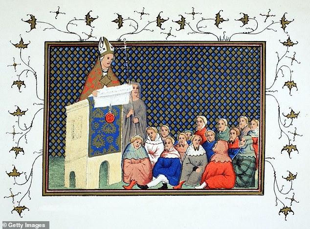 The Archbishop of Canterbury Thomas Arundel (1353-1414) preaching to the English nobility against Richard II (1367-1400),