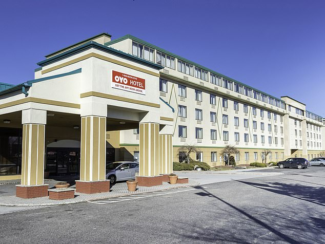 East Hanover police said that the boy's mother, 28-year-old Krystal Straw, was not present for the brutal beating of her son that they said took place at the Oyo Hotel (pictured)