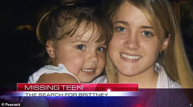 Sad: Britney left behind when her 2-year-old daughter disappeared