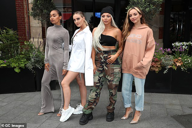 Girls: Little Mix is pictured in June 2019 before the departure of Jesse