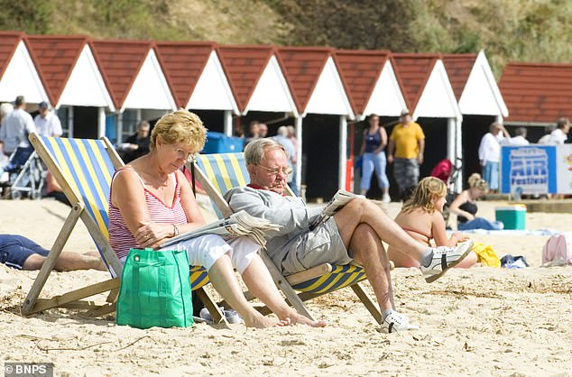 Vikki Slade, a Liberal Democrat member on Tory-run Bournemouth, Christchurch and Poole Council, raised the issue after residents remarked on the lack of deckchairs and sun loungers this year (Pictured: File photo of deck chairs in Bournemouth)