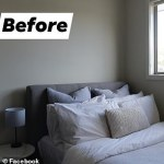 Shopper uses a $12 linen TABLECLOTH from Kmart to upcycle her old bed head with incredible results💥👩💥💥👩💥