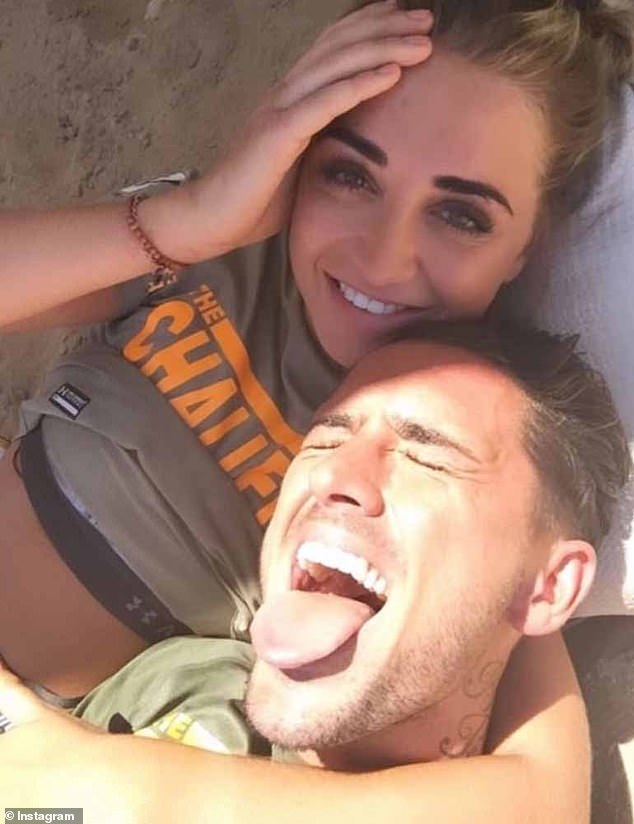 Drama:The influencer jetted back to the UK after spending time away ahead of her ex-boyfriend Stephen Bear's, 31, (pictured) court appearance - which took place in July