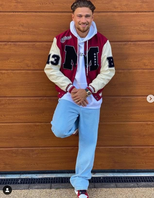 New man? The outing comes after Kady sparked romance rumours with Aston Villa's Matty Cash (pictured) while enjoying a date on day three of Wimbledon in July