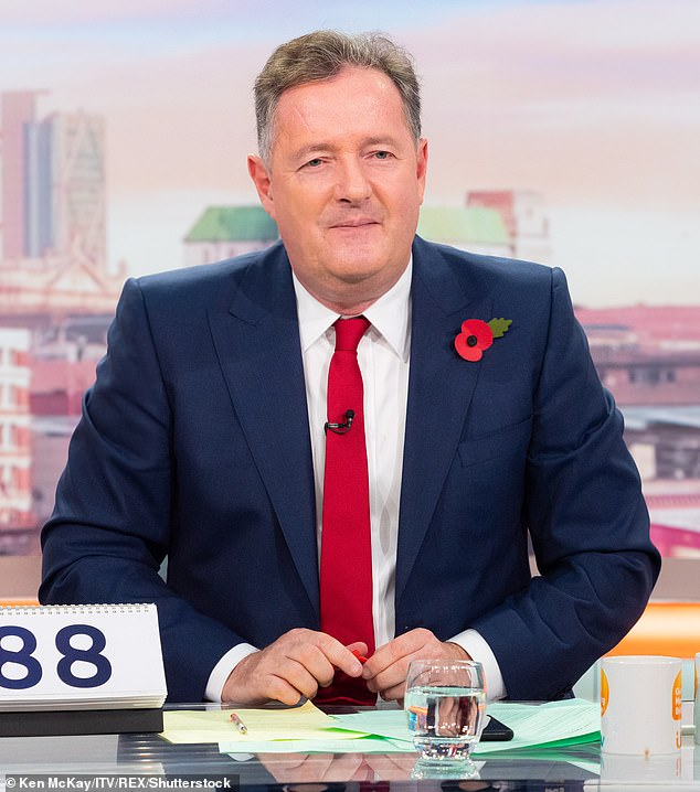 Back?Good Morning Britain's ratings have suffered a decline since Piers Morgan famously quit the show back in March and staff are keen for the star to return (Piers pictured in November last year)