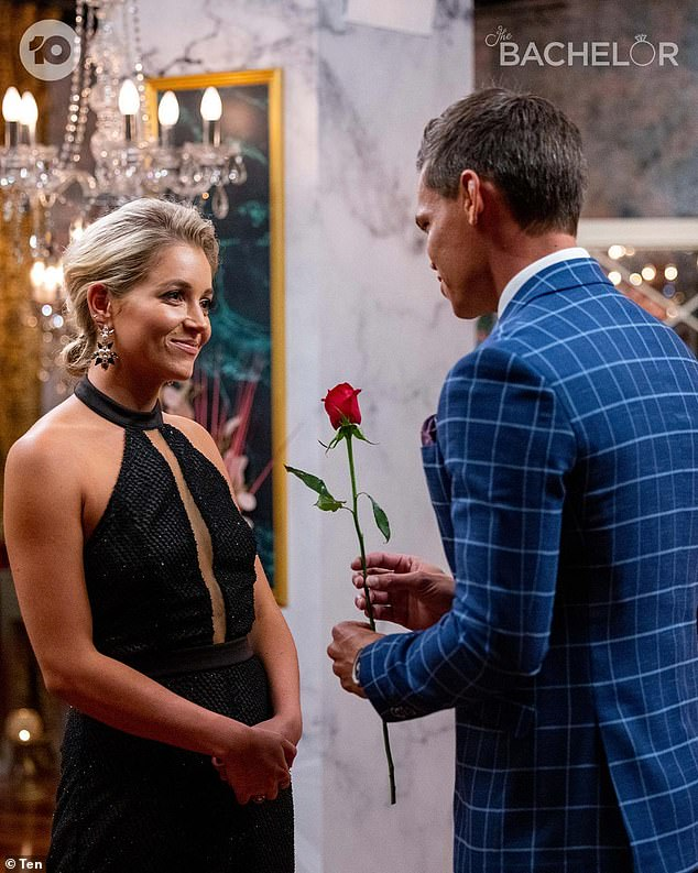 Favourite: The former Bachelorette, 31, noted in her piece for Yahoo! Lifestyle that Holly Kingston and pilot Jimmy had enjoyed their '80th single date' during the season