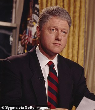 Not bad either: Bill Clinton will be portrayed by Clive Owen; seenduring a press conference addressing the crisis in Haiti held at the White House in 1994