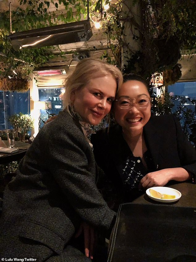 Exempt: This comes after Nicole flew from Sydney to Hong Kong via private jet last Thursday and avoided quarantine in Hong Kong after receiving an exemption from the government. to film a new Amazon Prime series Expats series. Pictured with directorLulu Wang