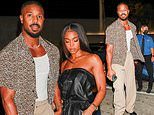 Michael B Jordan enjoys a cosy date night with girlfriend Lori Harvey at Craig's in West Hollywood
