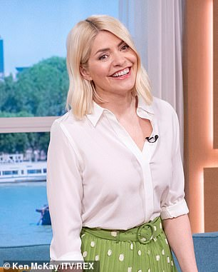 Lovely:It comes as Holly landed a nod for Best TV Presenter in this year's National Television Awards (pictured in 2021)