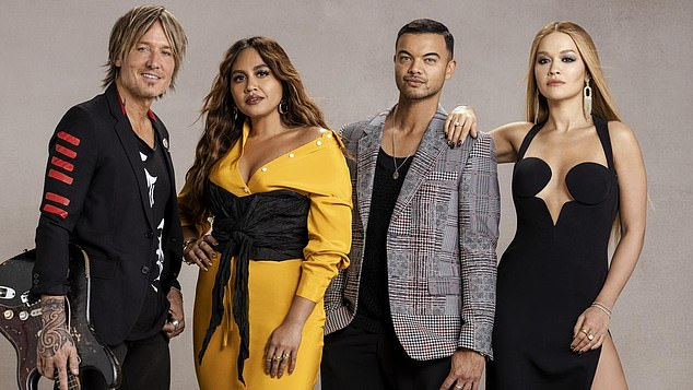Numbers don't lie: The Voice has enjoyed incredible ratings this season. Pictured: Coaches Keith Urban (far left), Jessica Mauboy (left), Guy Sebastian (right), and Rita Ora (far right)