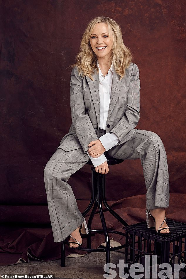 Positive:Rebecca Gibney has revealed that there is an upside to ageing. Speaking to this week's Stellar Magazine, the actress, 56, says that she committed to an exercise regime and a positive attitude when facing menopause. Pictured in Stellar Magazine