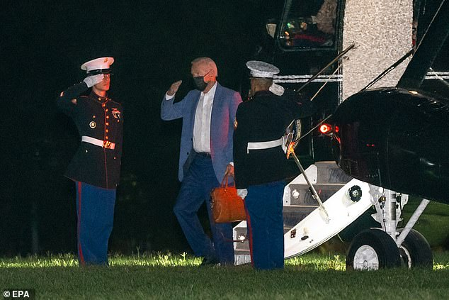 President Biden flew back to the White House from Camp David on Tuesday evening. His approval rating has plunged and the administration is in damage limitation mode as it deals with the crisis unfolding in Afghanistan. Making matters worse, Biden has spent days at the presidential retreat rather than at the White House