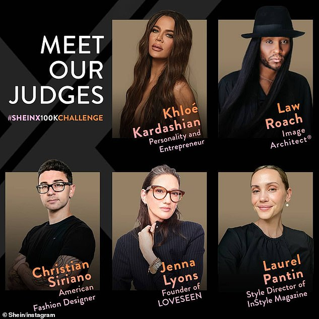 Fashion crew:Kardashian is one of five celebrity judges, which include designer Christian Siriano, stylist Law Roach, and former J.Crew creative director Jenna Lyons