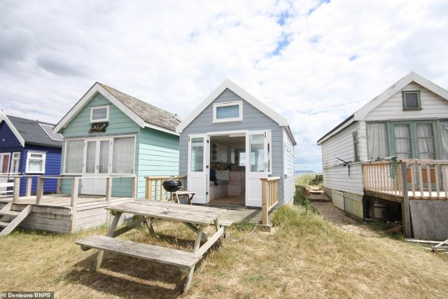 The wooden cabin at Mudeford Spit in Christchurch Harbour, Dorset, was listed for sale for the same asking price as a five bedroom detached house in Hull last Friday