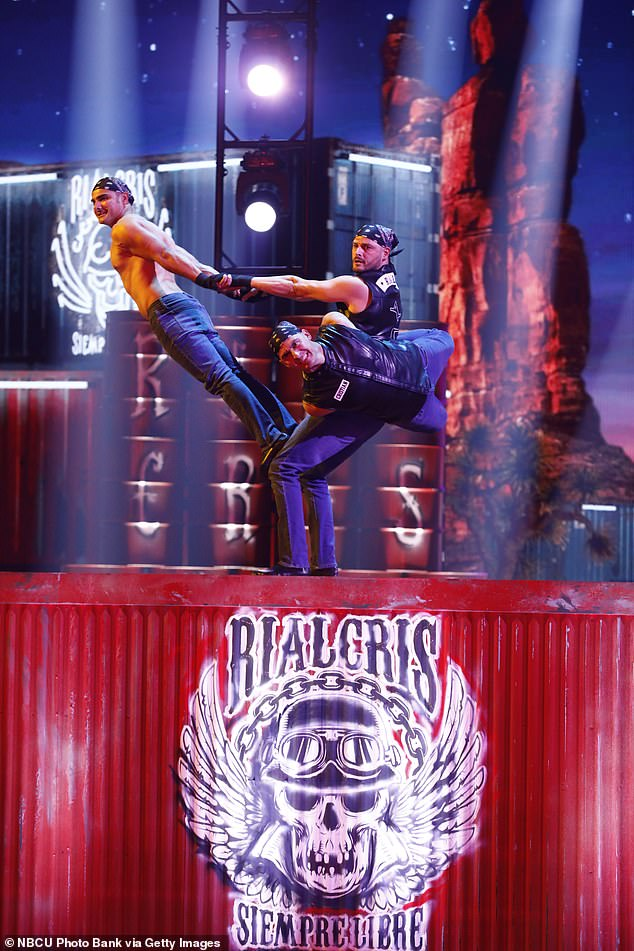 Danger act: Three acrobatic brothers from Colombia who performed as Rialcris impressed