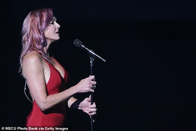 Incredible voice:Heidi said she not only looked like Jessica Rabbit, but that she was a 'force of nature' with an incredible voice