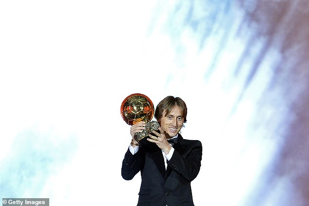 Luka Modric is the only player other than Messi and Ronaldo to have won the prize since 2008