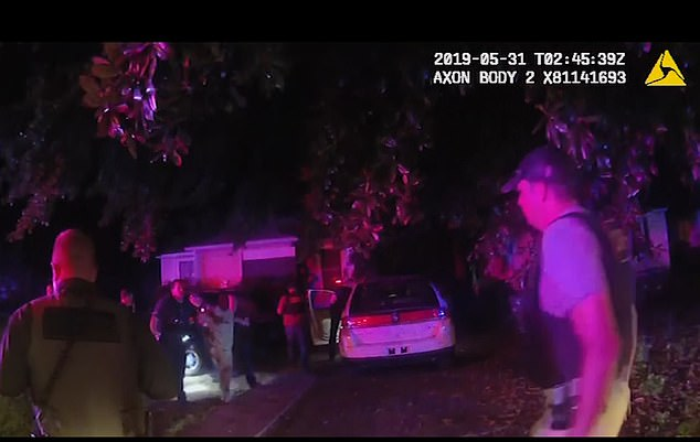The newly-released video shows Brown exit his vehicle and approach deputies who had forcibly removed Bowman from his vehicle and taken him to the ground during a traffic stop