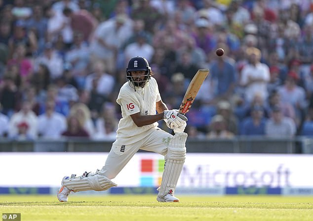 Haseeb Hameed looked assured for England as he ended the day unbeaten on 60
