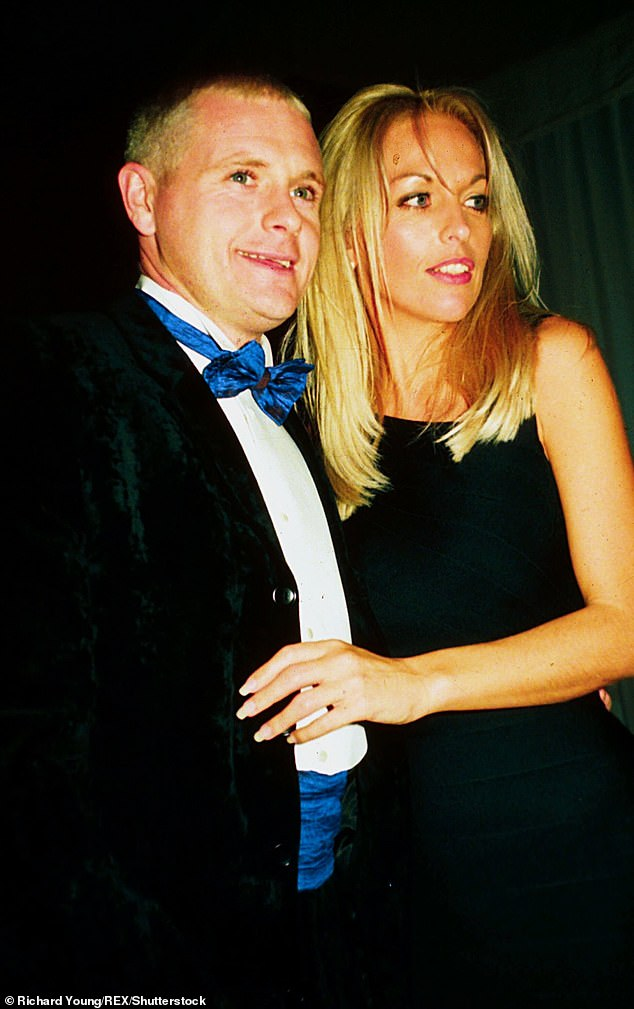 Exes: Bianca is one of three children Paul shares with his ex-wife Sheryl (pictured together in 1996)