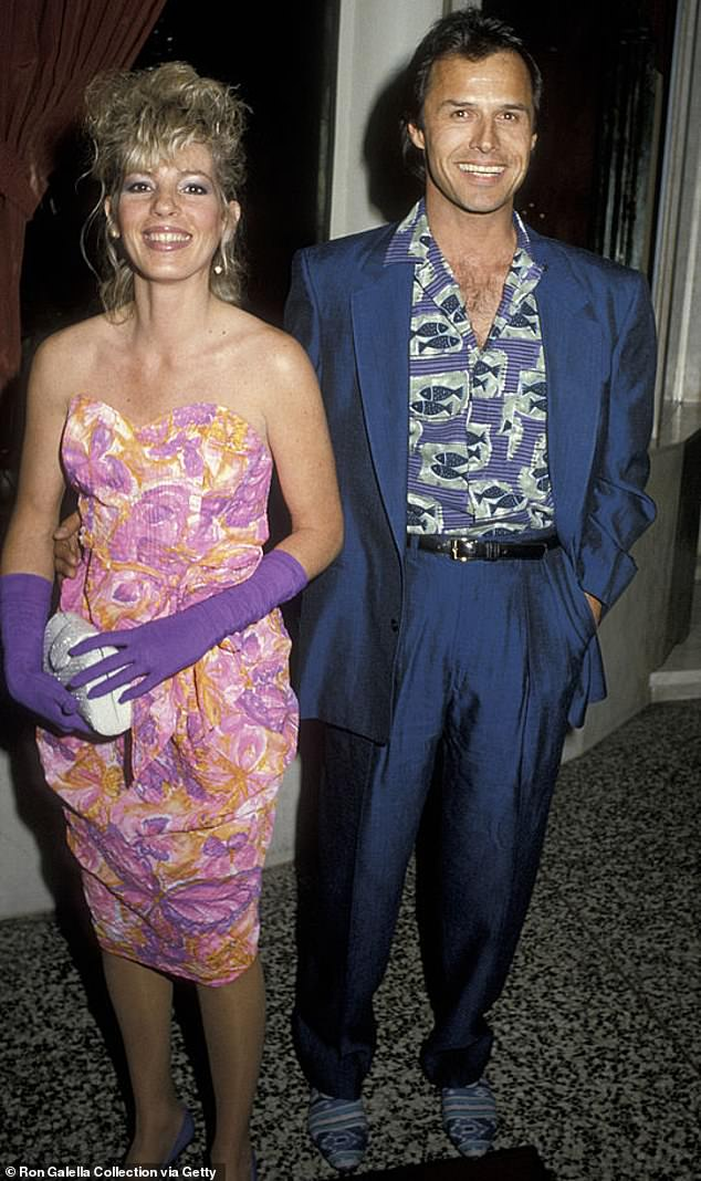 A close bond:Nader and wife Robin Nader attending Dynasty Wrap Party in 1986 at Bruno's Restaurant in Los Angeles. They were wed from 1984 until 1990
