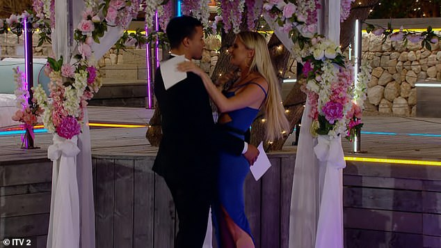 Love: The professional footballer, 22, and Chloe's, 25,budding romance culminated on Monday's episode when he asked her to be his girlfriend, and in their first interview after leaving the show, Toby insists there is no turning back