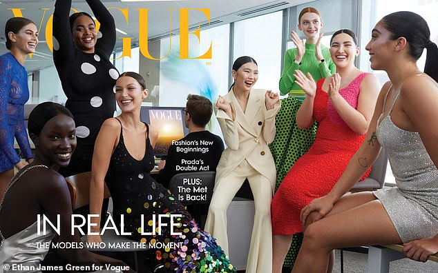 Most recently: She was one of eight lucky supermodels to be featured on the coveted September issue cover of Vogue Magazine (seen far right)