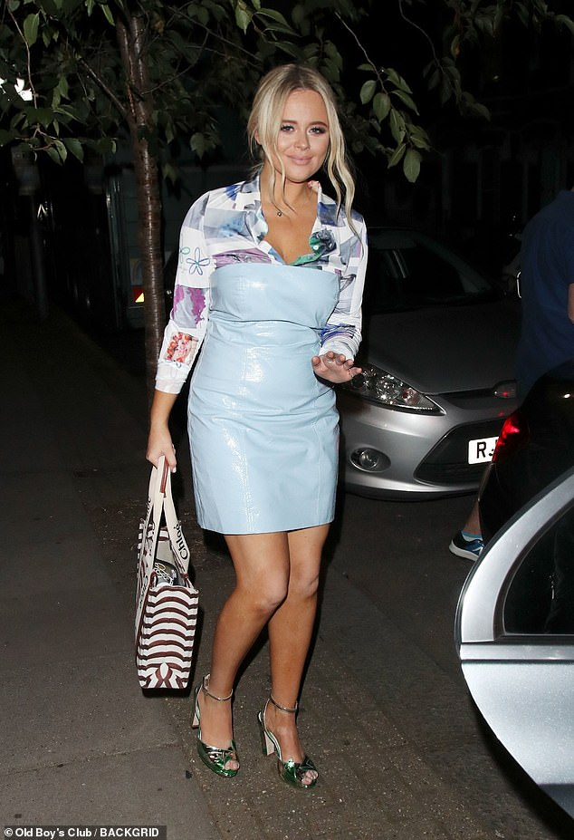 Stunning: The TV star looked gorgeous as she headed to a waiting car, toting her stage essentials in a designer Chloé bag worth £790