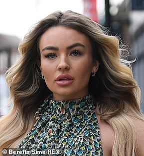 Frankie Sims puts on a busty display while Chloe Brockett flaunts her curves to film new TOWIE eps