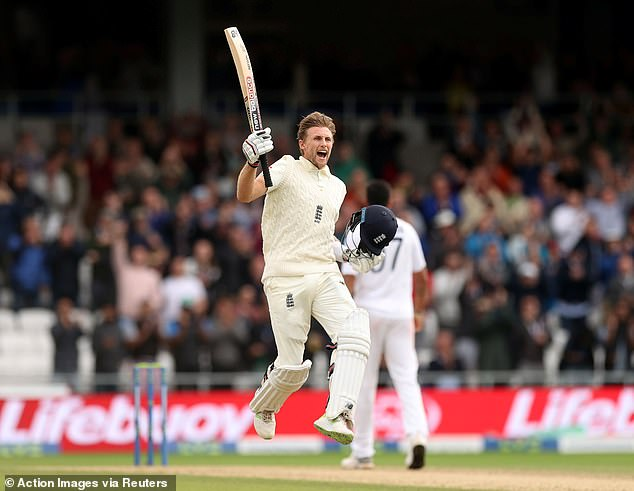 The England captain made 121 before falling to give his side a first-innings lead of 345