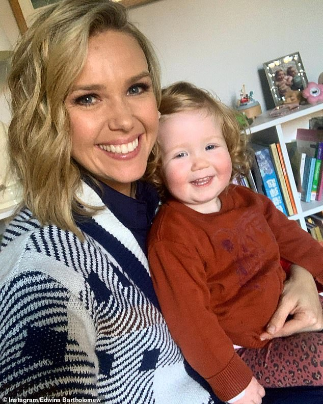 Safety first: 'I'm confident I have made the right decision for my body, my baby and my family,' she said in her column on Thursday. Pictured is Edwina with her daughter Molly
