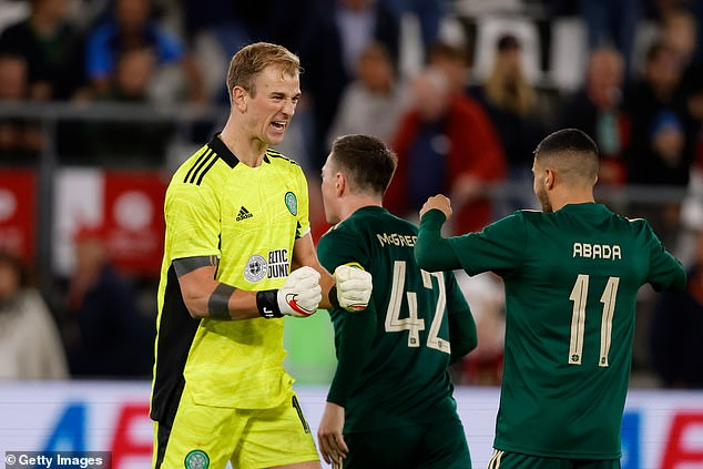 Joe Hart (pictured) made a goalkeeping howler but rescued his side with some fine saves