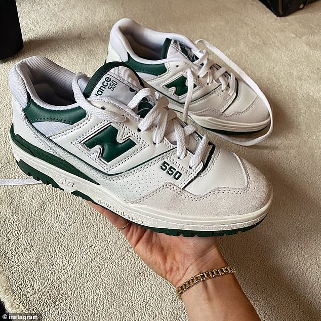 'My DMs have blown up regarding these… @newbalance 550. My pick for this summer's must have sneaker,' she wrote