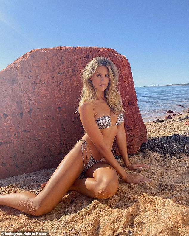 Some like it hot! Model Natalie Roser looked sensational as she flauntd her incredible figure in a bikini during a photo shoot posted to Instagram this week