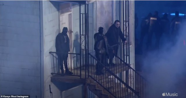 Confined: Despite having the run of the whole stadium he stayed confined to the stair's of the replicated house