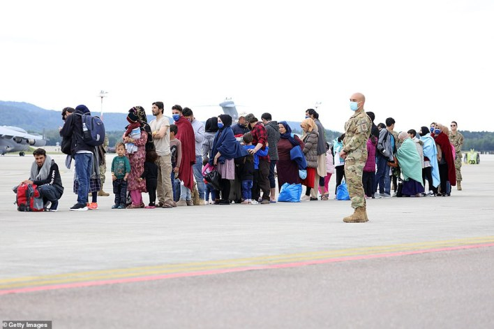 Since August 20, Ramstein Air Base officials said the base has hosted more than 11,000 evacuees and about 2,500 of them are already on their way to the United States
